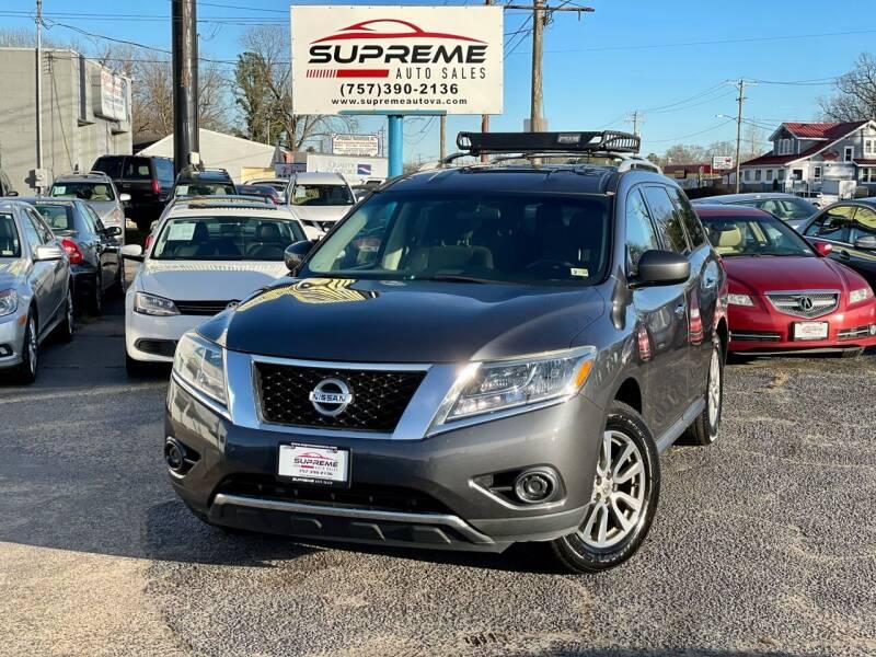 2013 Nissan Pathfinder for sale at Supreme Auto Sales in Chesapeake VA