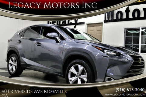 2017 Lexus NX 200t for sale at Legacy Motors Inc in Roseville CA