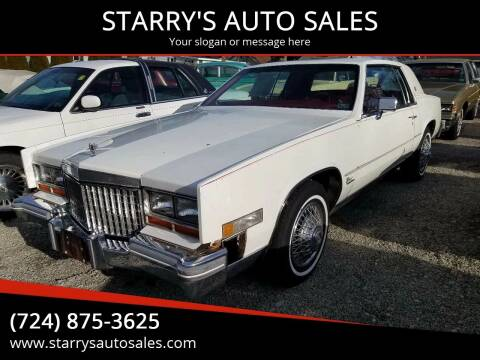 1980 Cadillac Eldorado for sale at STARRY'S AUTO SALES in New Alexandria PA