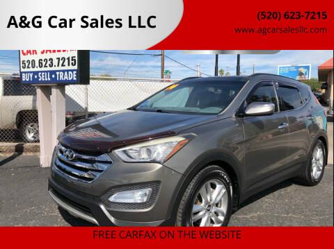 2014 Hyundai Santa Fe Sport for sale at A&G Car Sales  LLC in Tucson AZ