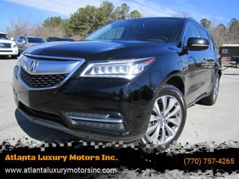 2014 Acura MDX for sale at Atlanta Luxury Motors Inc. in Buford GA