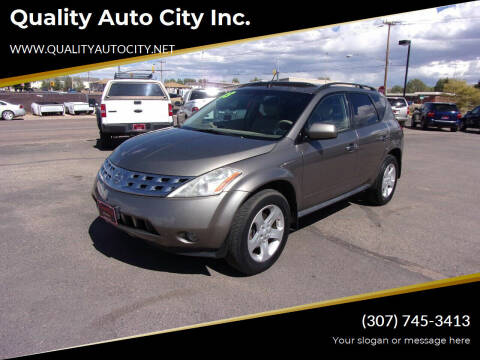 2003 Nissan Murano for sale at Quality Auto City Inc. in Laramie WY