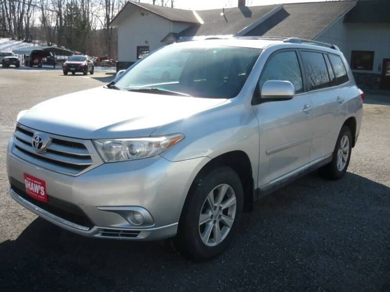 2011 Toyota Highlander for sale at Shaw's Sales & Service in Wallingford VT
