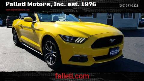 2017 Ford Mustang for sale at Falleti Motors, Inc.  est. 1976 in Batavia NY