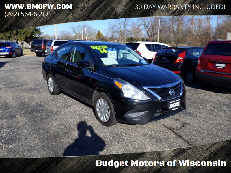 2016 Nissan Versa for sale at Budget Motors of Wisconsin in Racine WI