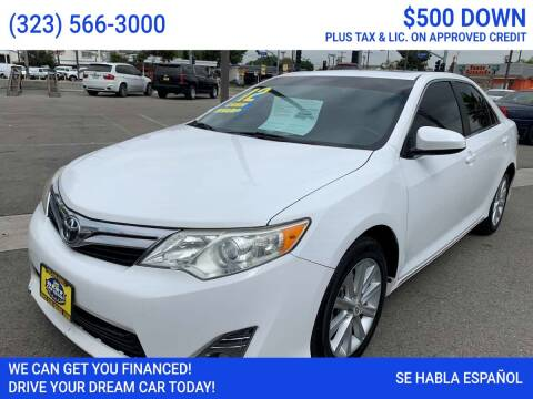 2012 Toyota Camry for sale at Best Car Sales in South Gate CA