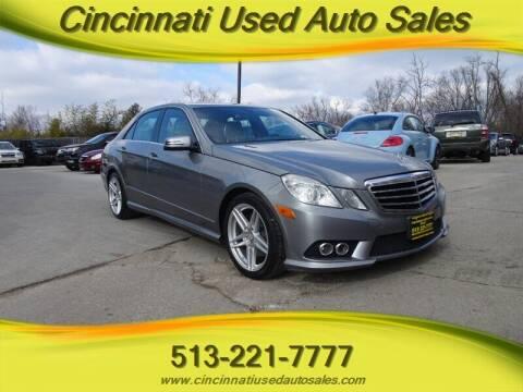 2010 Mercedes-Benz E-Class for sale at Cincinnati Used Auto Sales in Cincinnati OH