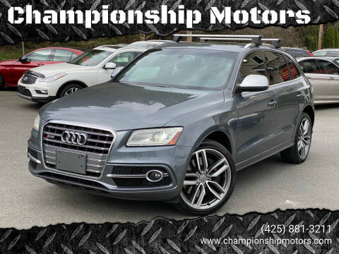 2014 Audi SQ5 for sale at Championship Motors in Redmond WA