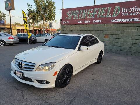 2010 Mercedes-Benz C-Class for sale at SPRINGFIELD BROTHERS LLC in Fullerton CA
