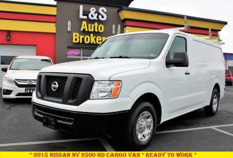 2015 Nissan NV Cargo for sale at L & S AUTO BROKERS in Fredericksburg VA