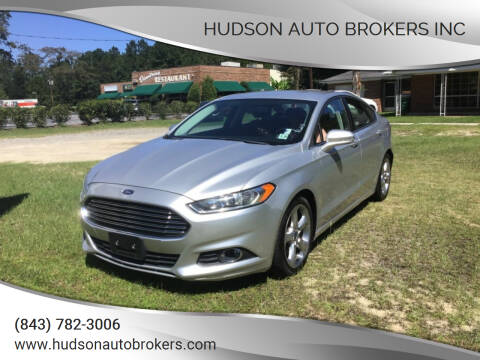 2015 Ford Fusion for sale at HUDSON AUTO BROKERS INC in Walterboro SC