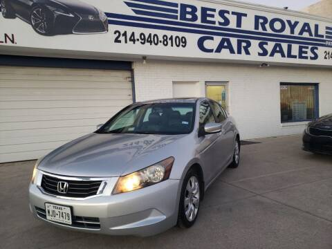 2008 Honda Accord for sale at Best Royal Car Sales in Dallas TX