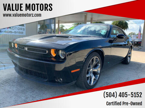 2016 Dodge Challenger for sale at VALUE MOTORS in Kenner LA