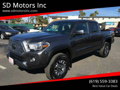 2019 Toyota Tacoma for sale at SD Motors Inc in La Mesa CA