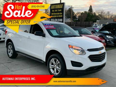 2017 Chevrolet Equinox for sale at AUTOMAX ENTERPRISES INC. in Roseville CA