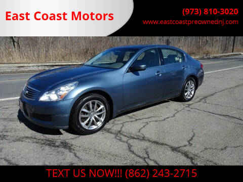2009 Infiniti G37 Sedan for sale at East Coast Motors in Lake Hopatcong NJ