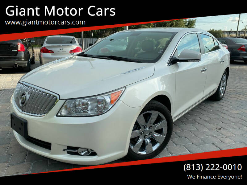 2012 Buick LaCrosse for sale at Giant Motor Cars in Tampa FL