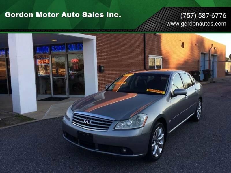 2007 Infiniti M35 for sale at Gordon Motor Auto Sales Inc. in Norfolk VA