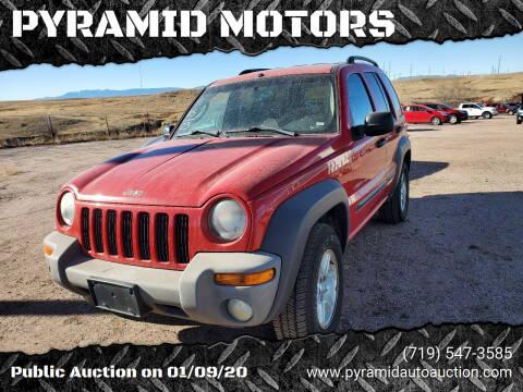 2003 Jeep Liberty for sale at PYRAMID MOTORS - Pueblo Lot in Pueblo CO