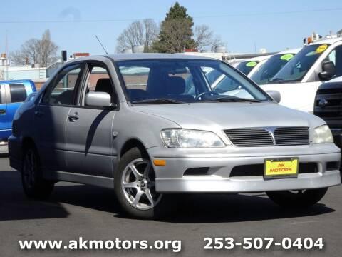 2003 Mitsubishi Lancer for sale at AK Motors in Tacoma WA