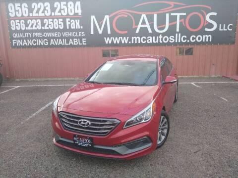 2017 Hyundai Sonata for sale at MC Autos LLC in Pharr TX