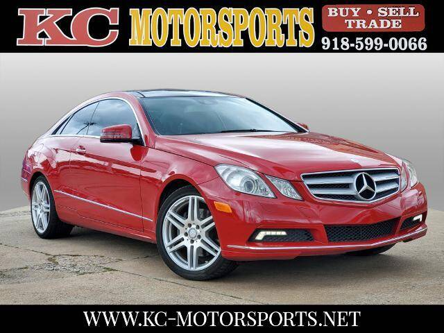 2010 Mercedes-Benz E-Class for sale at KC MOTORSPORTS in Tulsa OK