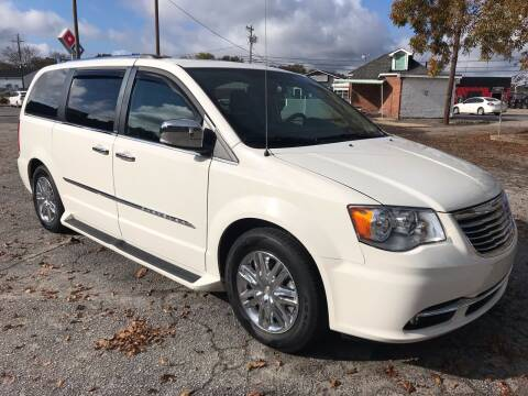 2012 Chrysler Town and Country for sale at Cherry Motors in Greenville SC