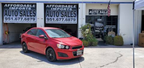 2012 Chevrolet Sonic for sale at Affordable Imports Auto Sales in Murrieta CA