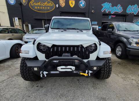 2020 Jeep Gladiator for sale at Exotic Auto Brokers in Miami FL