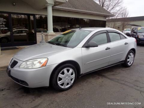 2009 Pontiac G6 for sale at DEALS UNLIMITED INC in Portage MI