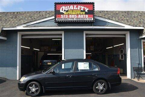 2001 Honda Civic for sale at Quality Pre-Owned Automotive in Cuba MO