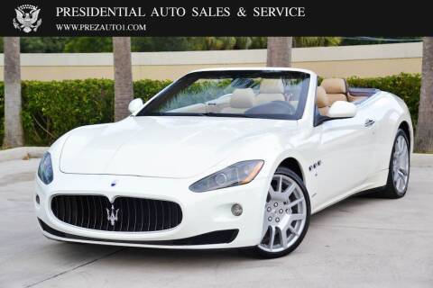 2010 Maserati GranTurismo for sale at Presidential Auto  Sales & Service in Delray Beach FL