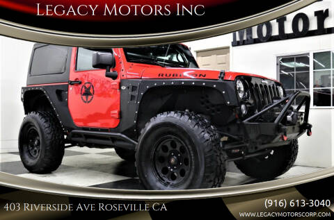 2016 Jeep Wrangler for sale at Legacy Motors Inc in Roseville CA