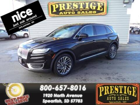 2019 Lincoln Nautilus for sale at PRESTIGE AUTO SALES in Spearfish SD