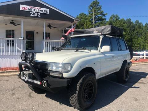 1994 Toyota Land Cruiser for sale at CVC AUTO SALES in Durham NC