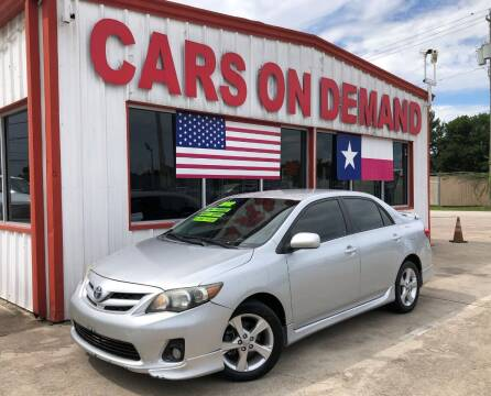 2012 Toyota Corolla for sale at Cars On Demand 3 in Pasadena TX