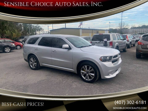 2012 Dodge Durango for sale at Sensible Choice Auto Sales, Inc. in Longwood FL