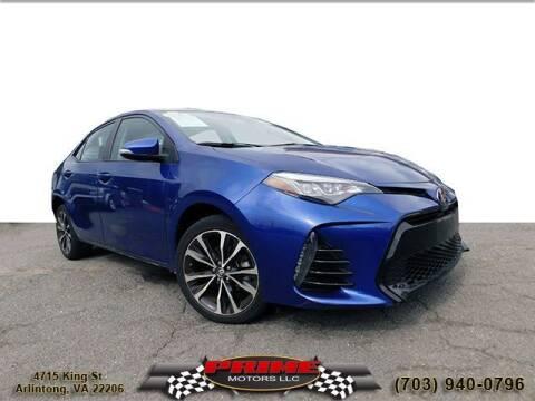 2019 Toyota Corolla for sale at PRIME MOTORS LLC in Arlington VA