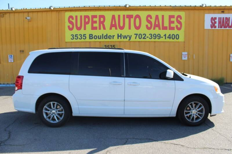 2014 Dodge Grand Caravan for sale at Super Auto Sales in Las Vegas NV