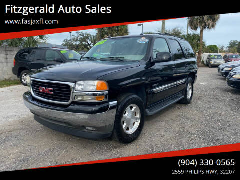2005 GMC Yukon for sale at Fitzgerald Auto Sales in Jacksonville FL