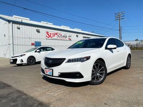 2015 Acura TLX for sale at SUPER AUTO SALES STOCKTON in Stockton CA