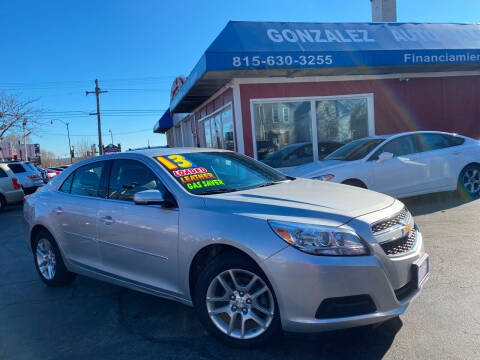 2013 Chevrolet Malibu for sale at Gonzalez Auto Sales in Joliet IL
