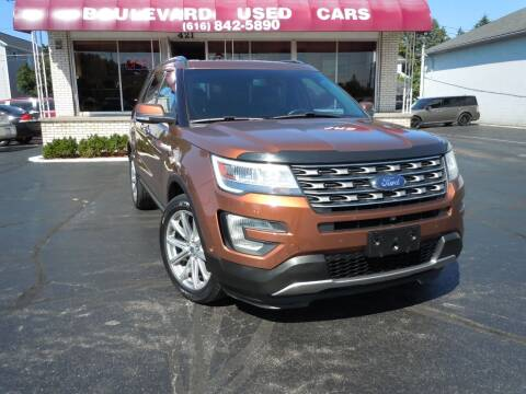 2017 Ford Explorer for sale at Boulevard Used Cars in Grand Haven MI