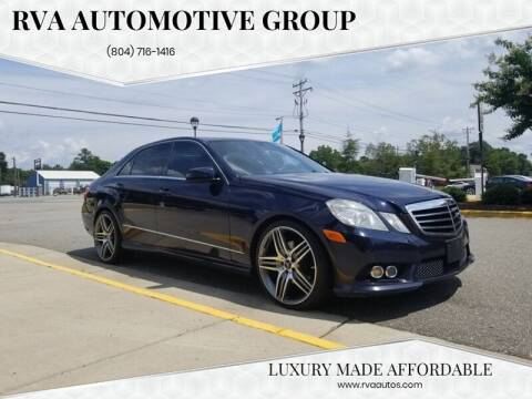 2010 Mercedes-Benz E-Class for sale at RVA Automotive Group in North Chesterfield VA