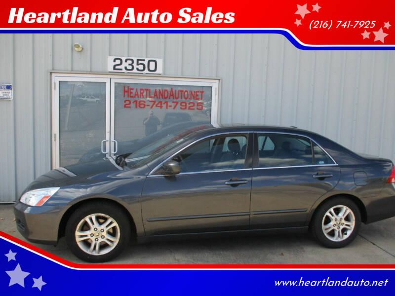 2006 Honda Accord for sale at Heartland Auto Sales in Medina OH