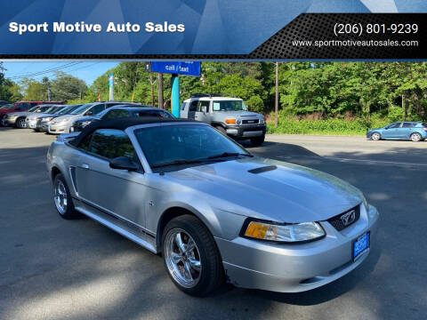 2000 Ford Mustang for sale at Sport Motive Auto Sales in Seattle WA