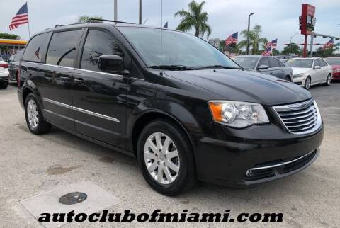 2015 Chrysler Town and Country for sale at AUTO CLUB OF MIAMI, INC in Miami FL