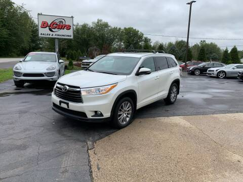 2016 Toyota Highlander for sale at D-Cars LLC in Zeeland MI