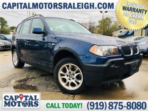 2005 BMW X3 for sale at Capital Motors in Raleigh NC