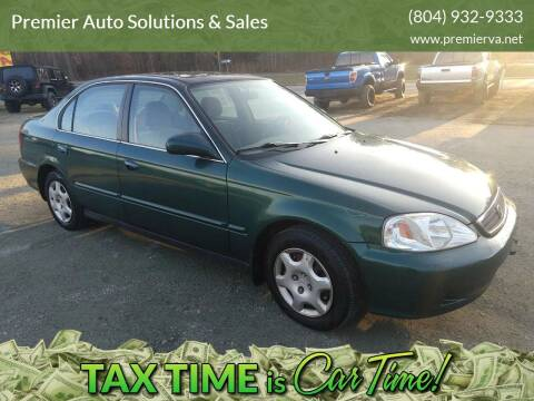 1999 Honda Civic for sale at Premier Auto Solutions & Sales in Quinton VA